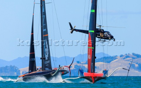 110121  Auckland NZL36th Americas Cup presented by PradaPRADA Cup 2021  Training Day 1Emirates Team