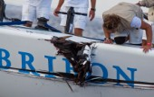 Cagliari, 22-09-10Audi Medcup 2010Region of Sardinia TrophyBribon after the crash with Audi A1 powered by ALL4ONE