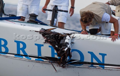Cagliari 220910Audi Medcup 2010Region of Sardinia TrophyBribon after the crash with Audi A1 powered