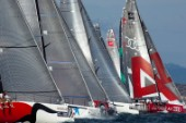 The start of Race two on Day one of the Trophy of Sardinia, Audi MedCup 2010. 21/9/2010