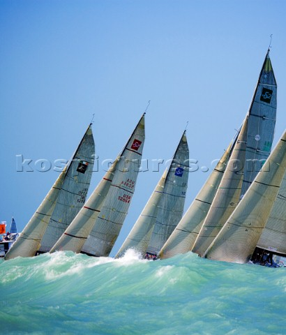 TP52 Startline during Acura Key West Race Week