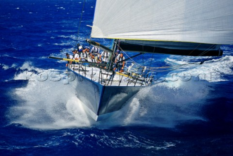 TP52 at the end of the TransPac Race from America to Hawaii
