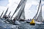 Windward bouy mark rounding at Acura Key West Race Week