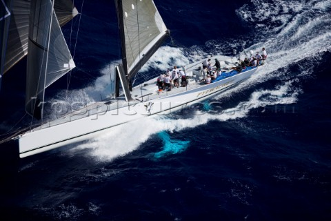 Roy Disneys Maxi Pyewacket at the end of the TransPac Race from America to Hawaii