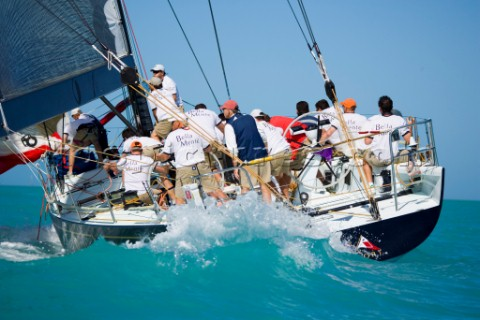 KEY WEST FLORIDA  January 16th 2007 IRC1 racing yacht Bella Mente owned by Hap Fauth Newport RI prep