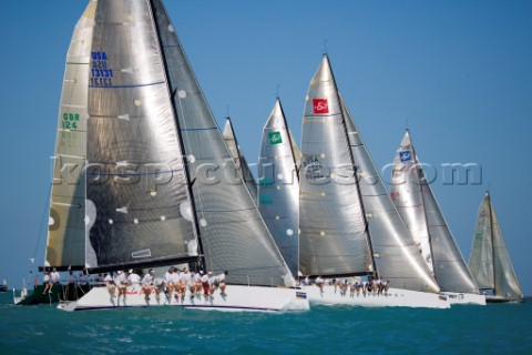 KEY WEST FLORIDA  January 16th 2007 The startline of IRC1 during racing on Day 2 of Key West Race We