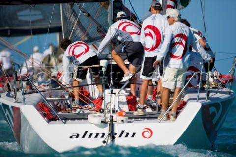KEY WEST FLORIDA  January 16th 2007 Tactician Brad Butterworth right of the Swiss Alinghi Americas C