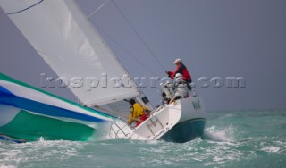 Key West Race Week 2009 - broach aboard a J105