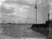 Castle Point of the Royal Yacht Squadron in Cowes UK in the 1930s