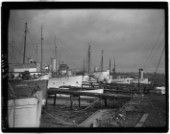 Superyachts including Donald Campbells BlueBird moored at Whites Yard in Southampton in 1939
