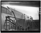 Fitting out a classic yacht at The Dorset Yacht Company in 1939