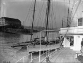 Motor yachts and sailing yachts alongside Ratsey & Lapthorn sailmakers in Gosport in the 1930s
