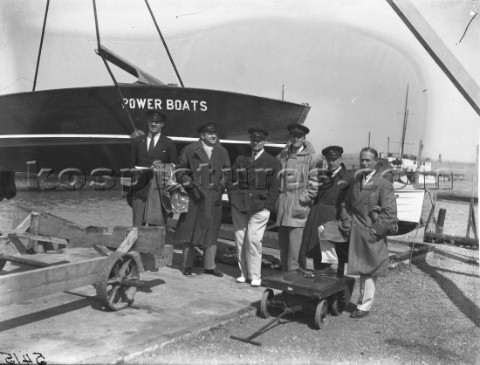 Gentlemen stand by during speed trials at Gosport in the 1930s