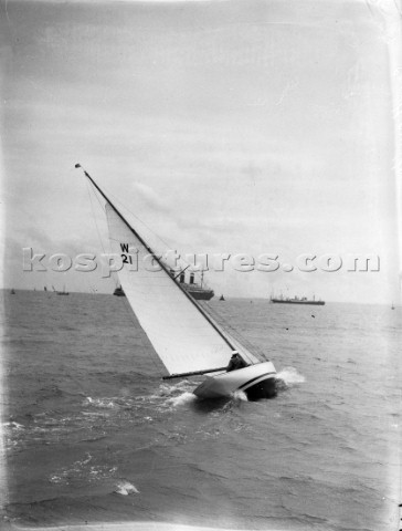 W Class racing on the Solent UK in the 1930s
