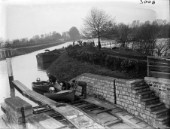 Motorboats on the skids at Teddington Lock in the 1930s