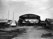Fitting out shed at The Dorset Yacht Company (UK) in 1939