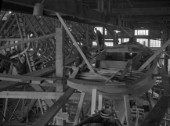 Boatbuilding at Mays Yard in Lymington (now known as Berthon Yacht Services) in 1939