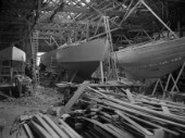 Fitting out at Camper and Nicholsons yard in Gosport in 1939.