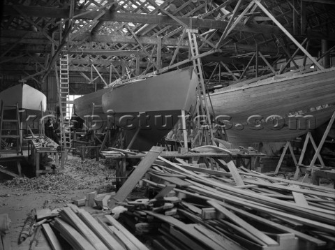 Fitting out at Camper and Nicholsons yard in Gosport in 1939