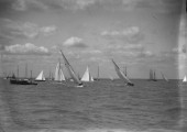 W Class yachts racing off Cowes in the Solent in the 1930s.