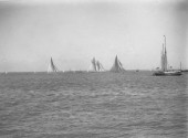 Big class racing off Cowes in the Solent