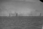 Big yacht racing off Cowes in the Solent