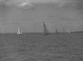 Int 8m racing off Cowes in the Solent