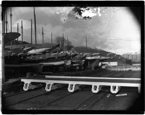 Marine Railway in Roberstons yard Scotland 1930