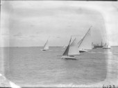 Int 12m racing off Cowes in the Solent, plus quay punt sailing