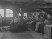 Sewing sails in Ratsey & Lapthorn Ltd on the south coast UK in 1930