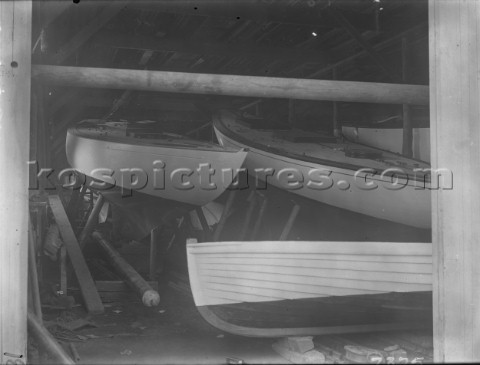 Boat shed at Robertsons shipyard in 1930