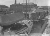 Boats laid up  with William Osborne yard at rear, Littlehampton
