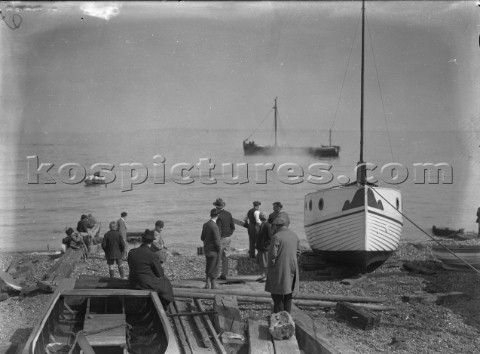 Launching down the beach from yard in Whitstable