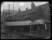 Fitting out at the Camper and Nicholsons yard in Gosport in 1936