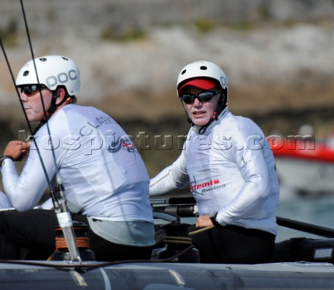Sailing Americas Cup World Series from Plymouth in the United Kingdom Terry Hutchinson