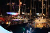 Gustavia harbour at night during the 2015 St Barths Bucket Regatta