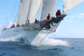 Adela racing at the 2015 RORC Caribbean 600, regatta