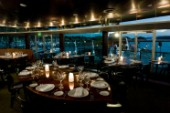 Hamilton Yacht Club restaurant at night