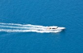 Motor boat near Palm Beach, USA