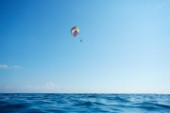 Person parasailing