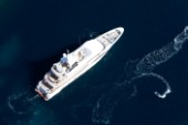 Aerial view of superyacht Spirit