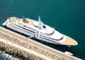 Superyacht Vibrant Curiosity moored in Mallorca