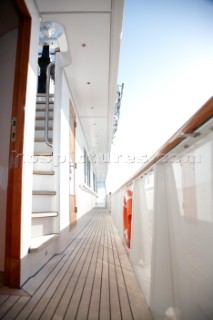 Deck of a superyacht