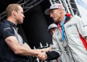 Prize giving ceremonyPrince William, Duke of CambridgeJimmy Spithill, Skipper and Helmsman