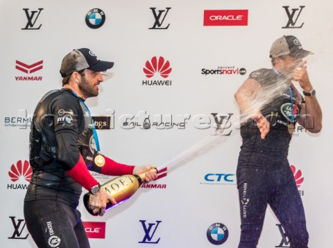 Prizegiving ceremony  Sir Ben Ainslie of Land Rover BAR