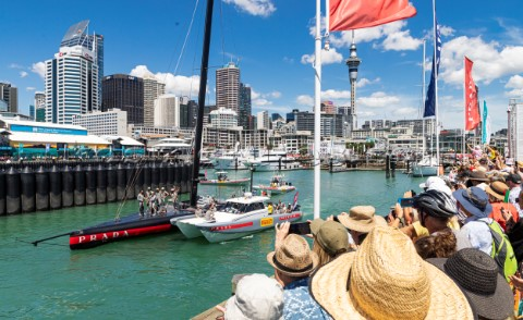 130221  Auckland NZL36th Americas Cup presented by PradaPRADA Cup 2021  DocksideSupporters at AC Rac