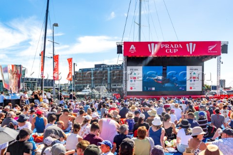 130221  Auckland NZL36th Americas Cup presented by PradaPRADA Cup 2021  DocksideSpectators at the AC