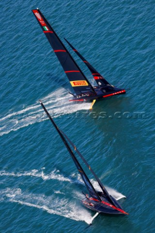 130221  Auckland NZL36th Americas Cup presented by PradaPRADA Cup 2021  Final Day 1Ineos Team UK Lun
