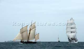 Tall ship Brest sailing