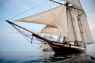 Tall ships Lynx and LHermione sailing